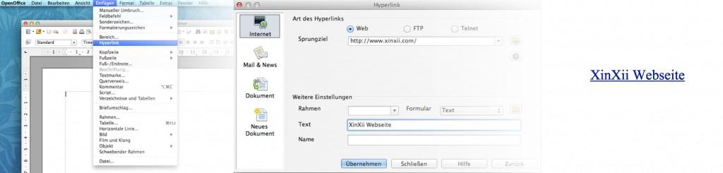 Link in OpenOffice