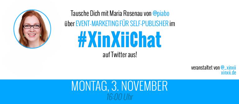 #XinXiiChat zu Event-Marketing für Self-Publisher