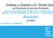 "Chat-Ankündigung: ""Rechtsfragen im Self-Publishing"" mit Dr. Christian Sprang"