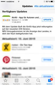 XinXii-App für Selfpublisher